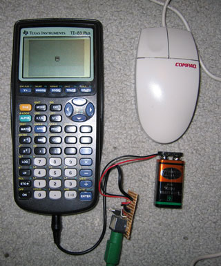 Photo of calculator and mouse.