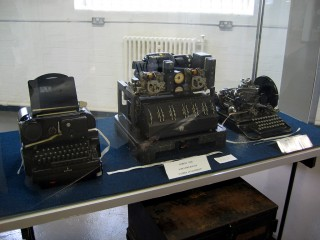 A Lorenz cipher machine, which provided much stronger encryption than the Enigma machine and which therefore required a much more powerful machine to help decipher its messages.