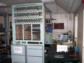 "This ""Tunny"" machine was built to emulate a Lorenz machine. Once Colossus had found the initial pin settings for the message, this machine could be used to decrypt the message."