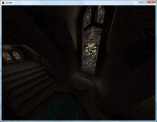 Quake 2 with greyscale lightmaps.