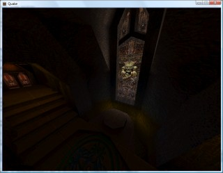 Quake 2 with simulated colour lightmaps - the final R, G and B components are looked up individually from the colour map to retain the software rendering look.