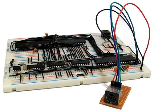 Z80 computer with PS/2 keyboard socket