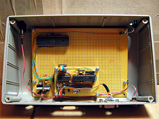 Circuit board mounted inside the case