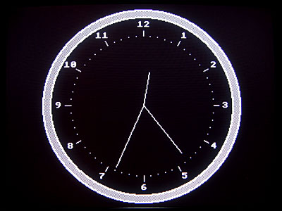 Graphical analogue clock for CP/M 3