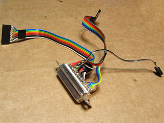 Parallel port connector