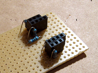 Video amplifier resistors in place