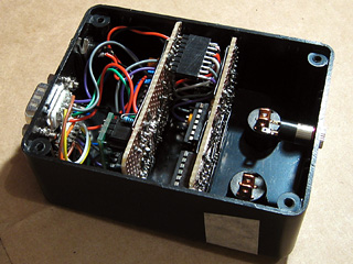 Both circuit boards installed in the enclosure