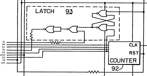 Pinout detail in the patent schematic