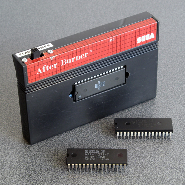 Modified After Burner cartridge with flash memory chips
