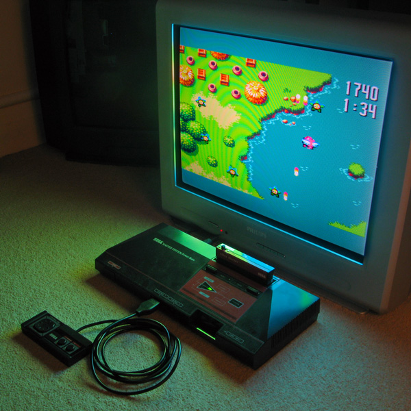 Flight of Pigarus running on the Master System