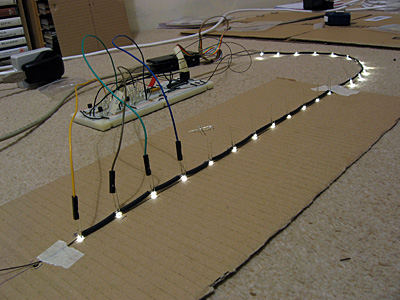 LED jig made from cardboard